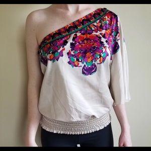Rampage - Women's one shoulder blouse.